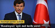 Başbakan Ahmet Davutoğlu Koalisyon görüşmeleri...