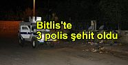 Bitlis'te 3 polis şehit oldu