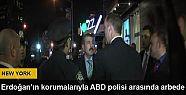 Cumhurbaşkanı Erdoğan'ın korumalarıyla...