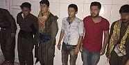 Dağ kadrosu kıyafetli 6 PKK'lı karakola...
