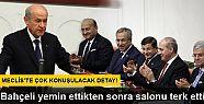 Davutoğlu, Bahçeli yemin etmeden Genel...