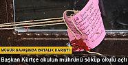 DBP İl Başkanı, Kürtçe okulun mührünü...