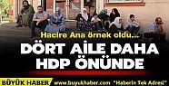 Dört aile daha HDP önünde evlat eyleminde