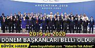 G20'nin 2019 ve 2020 dönem başkanları...