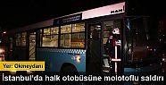 İstanbul Okmeydanı'nda halk otobüsüne...