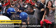 Kırşehir'deki şehit cenazesinde gerginlik