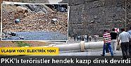 PKK'lıları hendek kazdığı Hakkari-Çukurca...