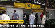 Polis merkezinin bitişiğindeki PTT'de...