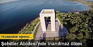 Şehitler Abidesi'nde merdivenden düşen...