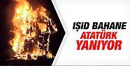 Şırnak'ta Atatürk büstü yakıldı