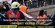 Taksim Metro İstasyonu intihar girişimi...
