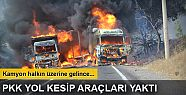 Tunceli'de PKK'lı bir grup yol kesip...