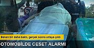 Üsküdar'da otomobilde ceset alarmı