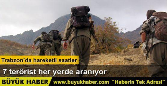 Trabzon'da, silah zoruyla yiyecek alan PKK'lı teröristler aranıyor