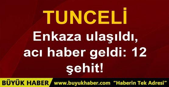 Tunceli'de helikopter düştü: 12 kişi şehit oldu