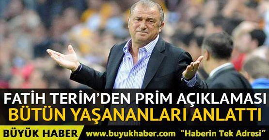 Türkiye Futbol Direktörü Fatih Terim'den prim itirafı