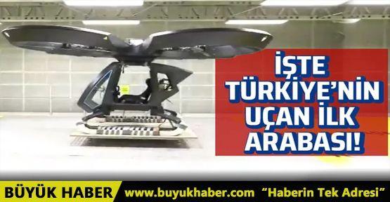 Türkiye'nin ilk uçan arabası Cezeri ilk uçuş testinden başarıyla geçti