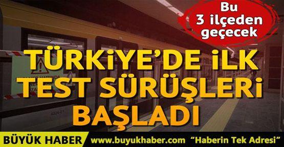 Üsküdar-Sancaktepe Metro Hattı'nda test sürüşleri başladı