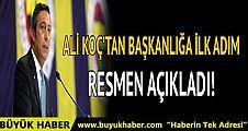 Ali Koç 1907 Fenerbahçe Derneği Başkanlığı'nı bıraktığını açıkladı