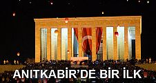 Anıtkabir'den yükselen 1915 barış feneri Ankara'yı aydınlattı