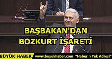 BAŞBAKAN'DAN BOZKURT İŞARETİ