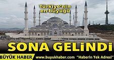 Türkiye'nin en büyük camisi bitmek üzere