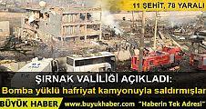Cizre'de Çevik Kuvvet Müdürlüğü'ne bombalı saldırı: 11 şehit, 78 yaralı