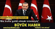 Erdoğan: 'Hava sahamızı ihlal eden iki uçaktan biri düşürüldü'