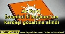Ak Parti İstanbul İl Başkanı'nın kardeşi gözaltına alındı