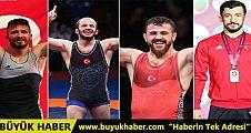 Avrupa Güreş Şampiyonası'nda dört madalya birden