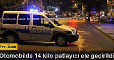 Polisin durdurduğu otomobilden 14 kilo patlayıcı çıktı