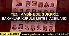 Türkiye Cumhuriyeti'nin 65.hükümeti belli oldu. İşte yeni kabine