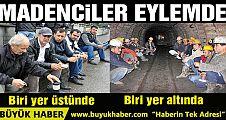 Zonguldak'ta madenciler eylemde