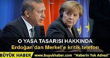 Cumhurbaşkanı Erdoğan Merkel'e telefon etti