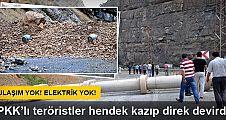 PKK'lıları hendek kazdığı Hakkari-Çukurca yolu hala kapalı