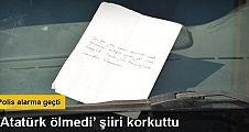 'Atatürk Ölmedi' şiirli, şüpheli çanta