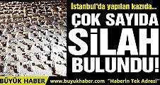 Üsküdar'da yapılan kazıda çok sayıda silah bulundu