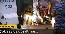 Taksim'de polis müdahalesi: Çok sayıda gözaltı var