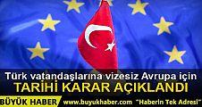 AB Komisyonu'ndan Türkiye için 'vize muafiyeti' kararı