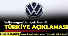 Volkswagen'den çok önemli açıklama