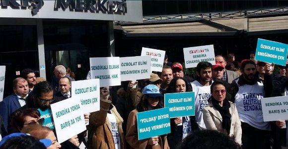 Yurt gazetesi çalışanları eylemde