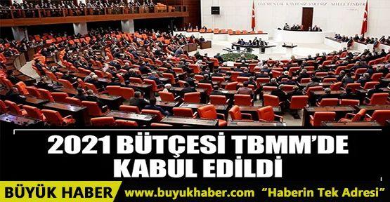 2021 yılı bütçesi TBMM Genel Kurulu'nda kabul edildi