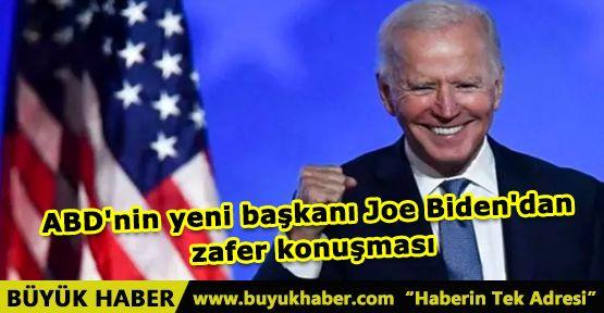 ABD'nin yeni başkanı Joe Biden'dan zafer konuşması