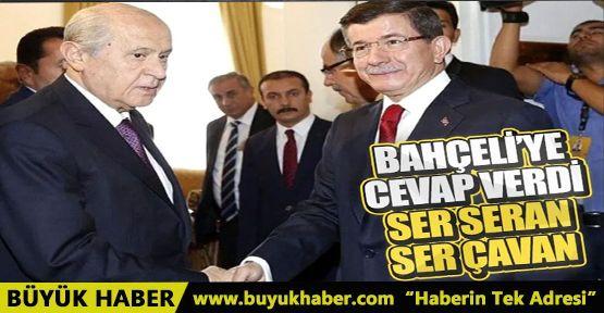 Ahmet Davutoğlu'ndan Bahçeli'ye Kürtçe yanıt