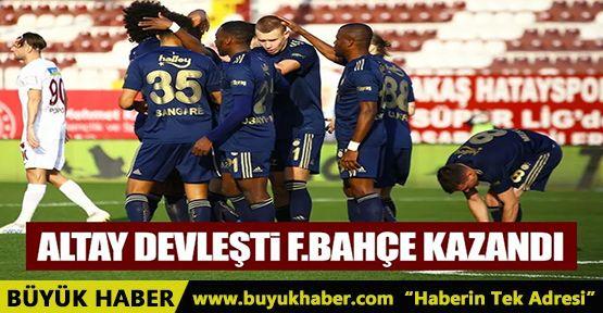Altay'ın kalesinde devleştiği maçta Fenerbahçe 3 puanla döndü