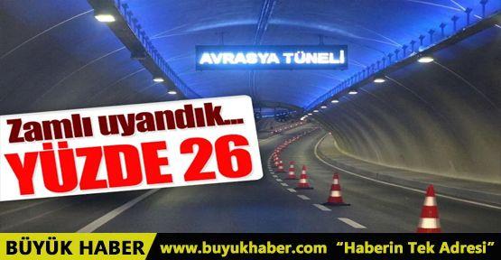 Avrasya Tüneli'nden geçiş ücretine yüzde 26 zam