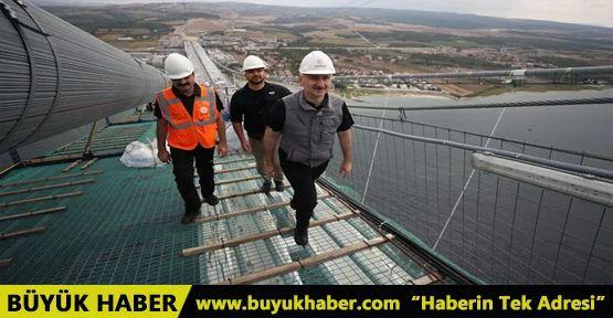 Bakan 1915 Çanakkale Köprüsü üzerinden Anadolu'dan Avrupa'ya geçti