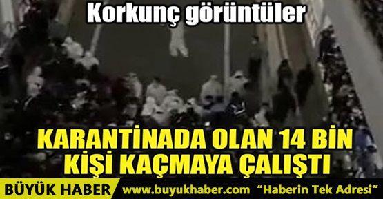 ÇİN'DE KARANTİNAYA ALINAN 14 BİN KİŞİ KAÇMAYA ÇALIŞTI!..