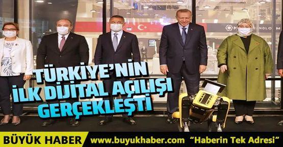 Cumhurbaşkanı Erdoğan açılışı robotla yaptı