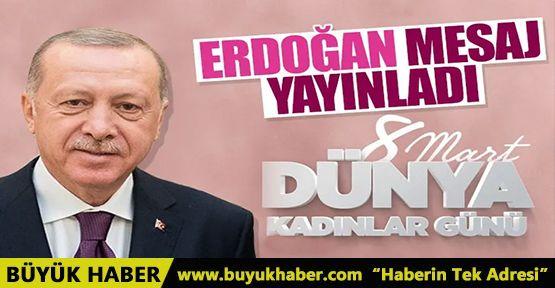 Cumhurbaşkanı Erdoğan'dan 8 Mart paylaşımı